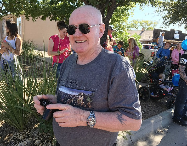 Terry Dwyer travelled 9,450 miles from his Albury, Australia home to visit friends – and to see the Fort Verde Days parade.