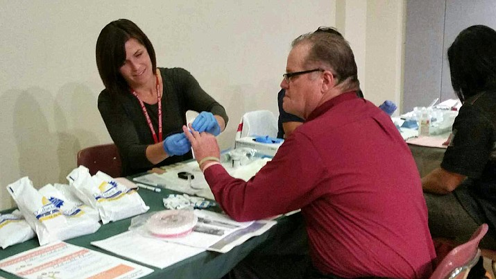 Staff from NorthCountry Health Care offered free diabetes screening at Xanterra's employee health fair Oct. 10.