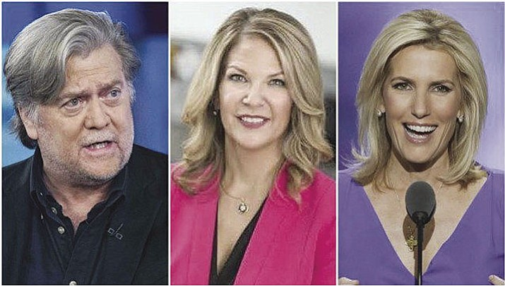 Former White House chief strategist Steve Bannon and radio talk show host Laura Ingraham, right, were among some of the heavy-hitters scheduled to attend Kelli Ward's campaign kickoff Tuesday in Scottsdale.