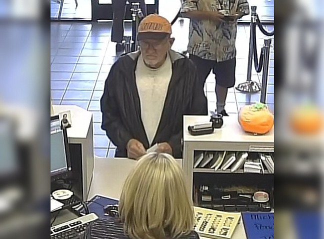 Bullhead City Police are seeking the public's help in identifying this bank robbery suspect. (Bullhead City Police Department)