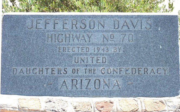 This is the monument that current sits in the state right of way along US 60 near Apache Junction. (Courtesy photo)