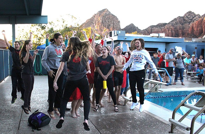 Mingus Union celebrates winning the Heisley/Estes Cup on Tuesday afternoon in Sedona. (VVN/James Kelley)