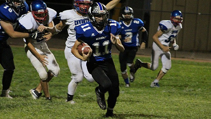 Kingman Academy quarterback Kekoa Makaiwi-Stroup will return tonight against Paradise Honors after missing last week's loss at Tonopah Valley.
