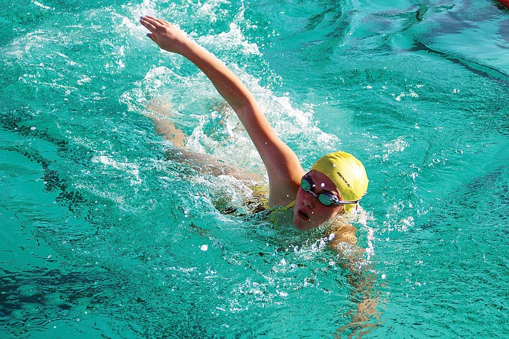 Kingman's Graceanne Roderick swam a 1:26.18 in the 100-yard backstroke and a 7:58.25 in the 500 freestyle. Both times were good enough for first place on Thursday at Centennial Pool.