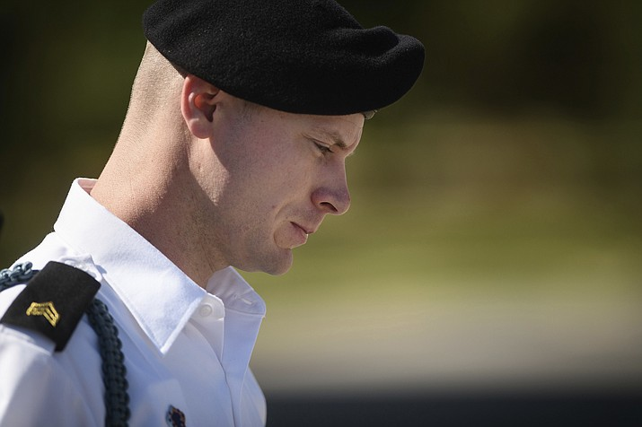 Army Sgt. Bowe Bergdahl leaves a motions hearing during a lunch break in Fort Bragg, N.C. in this 2017 file photo. His sentencing hearing begins this week. (Andrew Craft/The Fayetteville Observer via AP, file)