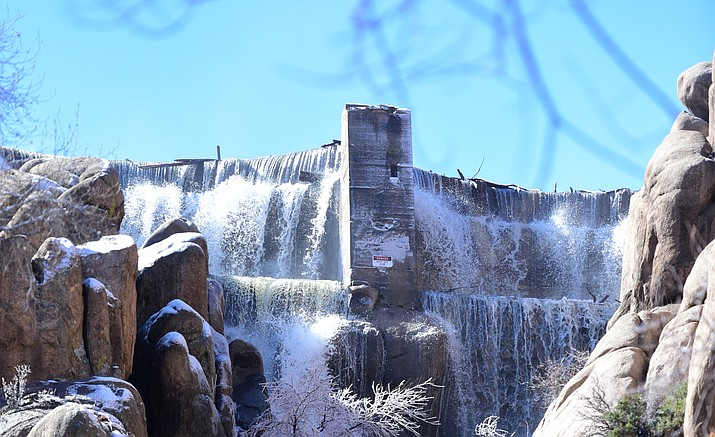 "The Prescott City Council will consider a contract to do ""pre-construction"" work on repairs to deteriorating valves on the Watson Lake Dam. (Les Stukenberg/Courier, file)"