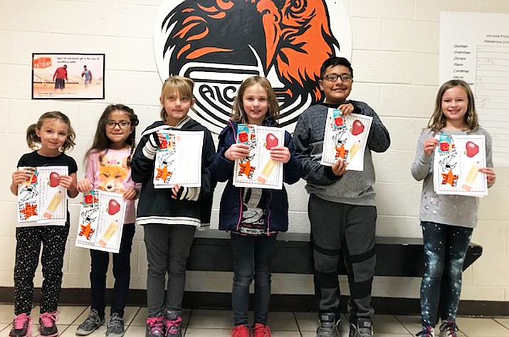 Izabella Anderson, Bethany Walker Domen, Amelie McKenzie, Jiovanni Perez Mata and Andy Endicott are the October elementary Students of the Month at WEMS.
