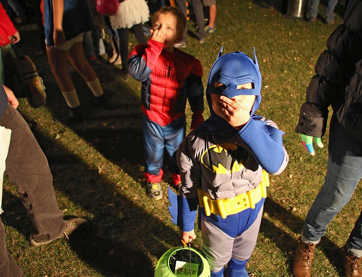 Batman enjoys trick-or-treating at Memory Park (Hailey Byrd/courtesy)