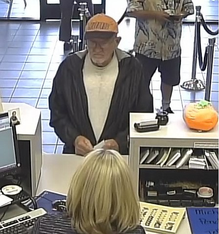 This photo purported to be of John Wayne McGuire of Arbor Vitae, Wisconsin during the Oct. 17 bank robbery in Bullhead City.