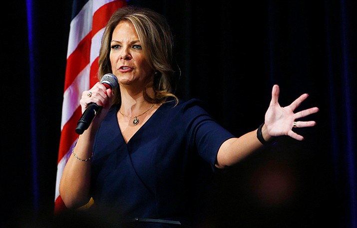 Former Republican Arizona state Sen. Kelli Ward was expected to run against Republican U.S. Sen. Jeff Flake in the Arizona 2018 primary, but Flake has bowed out of a re-election, announcing his retirement on Tuesday.  (Ross D. Franklin/AP)