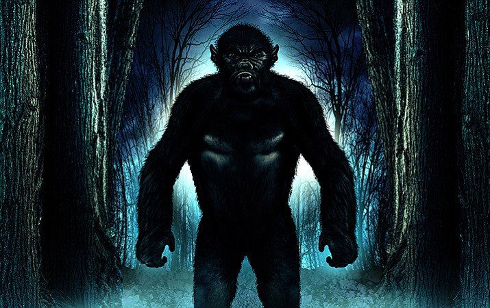 Artist's rendering of the legendary Mogollon Monster. (Courtesy)