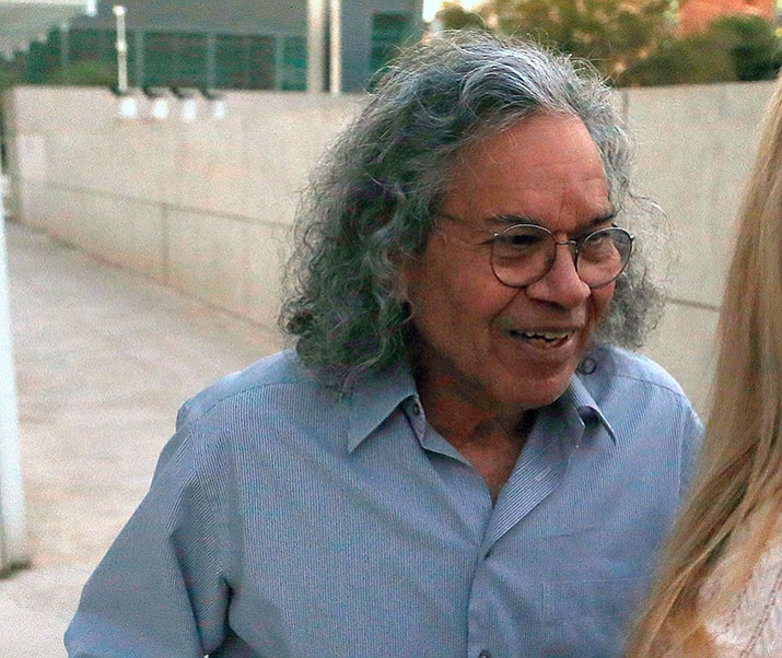 Billionaire founder of Insys John Kapoor leaves U.S. District Court Thursday, Oct. 26, in Phoenix. (Ross D. Franklin/AP)