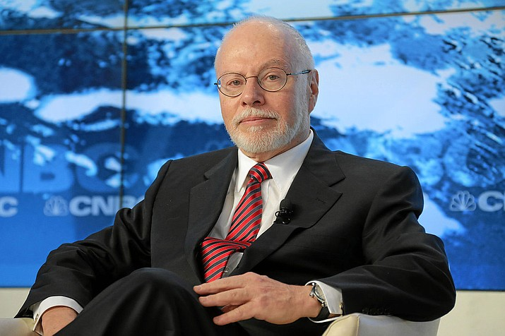 Paul Singer, who funds most of the Washington Free Beacon, at the World Economic Forum in 2013. The Washington Free Beacon triggered the investigation into Donald Trump's past.