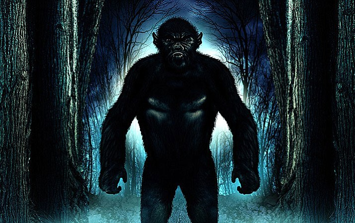 Artist's rendering of the legendary Mogollon Monster.