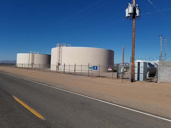 The water tanks on N Teddy Roosevelt Rd, at W. Zuni Drive in the NE corner of the District.