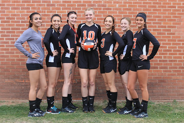 Williams High School recognized the senior Viking volleyball players Oct. 19. Players include: Destinee Pennington, Veronica Hernandez, Anna Chaney, Tori Maebe, Paige Kmetz, Riley Heap and Sarah Smith.