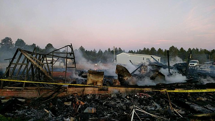 Fire crews responded to a fire Oct. 24 that destroyed the Haviland family's home in the Garland Prairie area near Williams.
