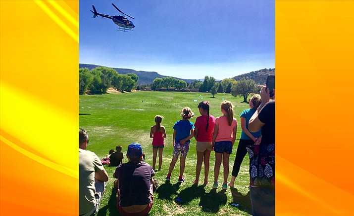 The fun continued on Saturday October 7, with a helicopter ball drop from Sedona Air Tours. Nearly 2,000 golf balls were dropped from the sky and one winner, Robert Douglas who purchased a single golf ball for $5, was declared the winner of $1,000 cash.