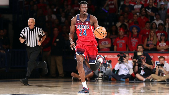 Emmanuel Akot and the University of Arizona men's basketball team open its season Nov. 10 at home against Northern Arizona.