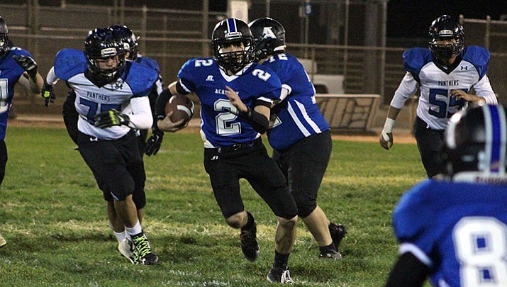 Kingman Academy's Stevie Wusstig leads the Tigers with 845 yards rushing and 10 touchdowns. The Academy plays at Round Valley Saturday.