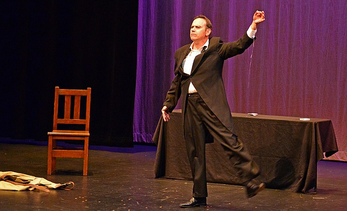 Duffy Hudson is Harry Houdini Saturday, Nov. 4, at Prescott Center for the Arts Stage Too. (Courtesy)