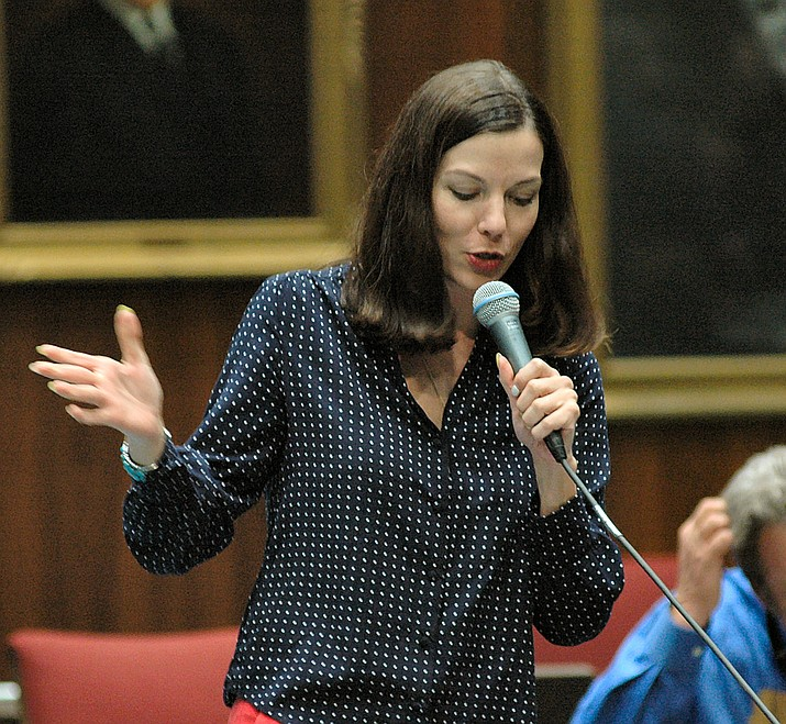 "State lawmakers on Monday released a detailed House policy designed to curb sexual harassment. The move came following a Facebook post more than a week ago by Rep. Michelle Ugenti-Rita, R-Scottsdale (pictured), saying that from the moment she took office in 2011 she experienced ""unwanted sexual advances and lewd and suggestive comments regarding my body and appearance from male colleagues."" (Capitol Media Services 2016 file photo by Howard Fischer)"
