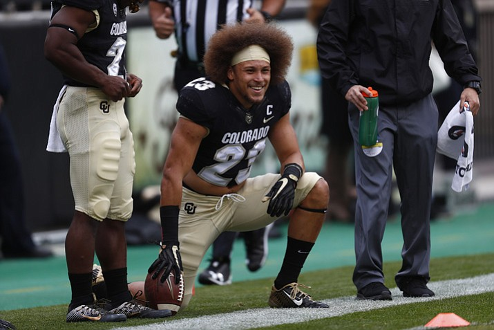 Colorado Buffaloes running back Phillip Lindsay (23) in the first half Saturday, Oct. 28, 2017, in Boulder, Colo. (David Zalubowski/AP, File)