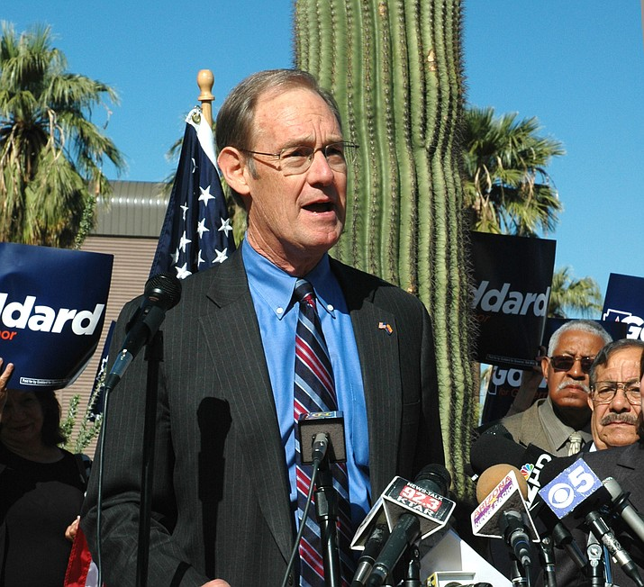 In this file photo, Terry Goodard speaks while on the stump in 2010.