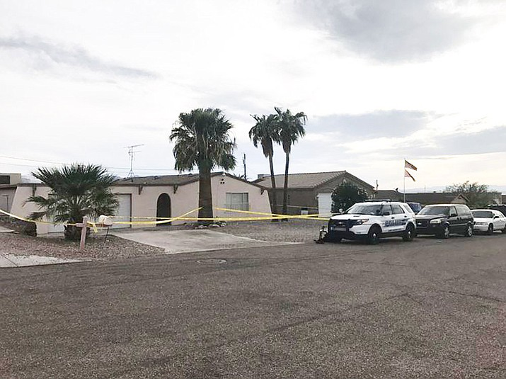 The home on Seabring Drive in Lake Havasu City where police are investigating a homicide on Friday afternoon.