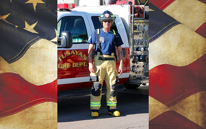 John Barnes recently joined the Tusayan Fire Department after serving in the military overseas.