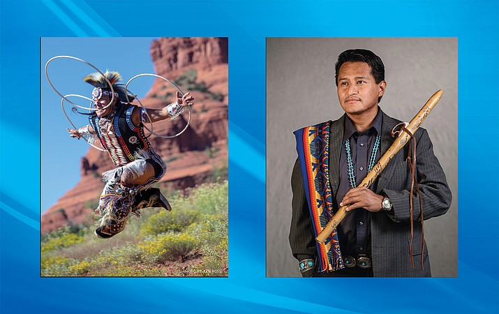 Derrick Suwaima Davis (left) and Jonah Littlesunday (right) will perform at Shrine of the Ages Nov. 9.