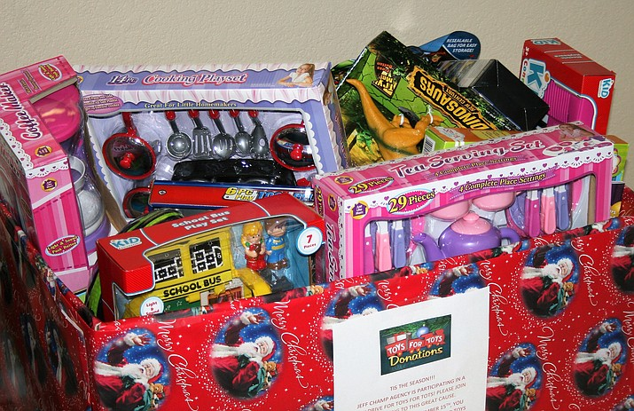 The Chino Valley Chamber of Commerce is collecting Toys for Tots donations from 9 a.m. to 5 p.m. Monday through Friday. (Courtesy)