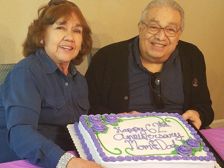 Tony and Mary Ellen Torrez celebrated their 62 year wedding anniversary.