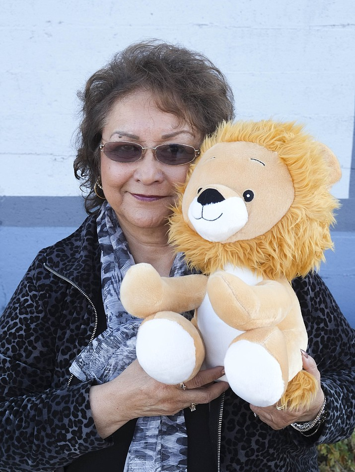 Virginia Quinn is seeking donations for stuffed lions for children who attend the Williams Community Dinner.
