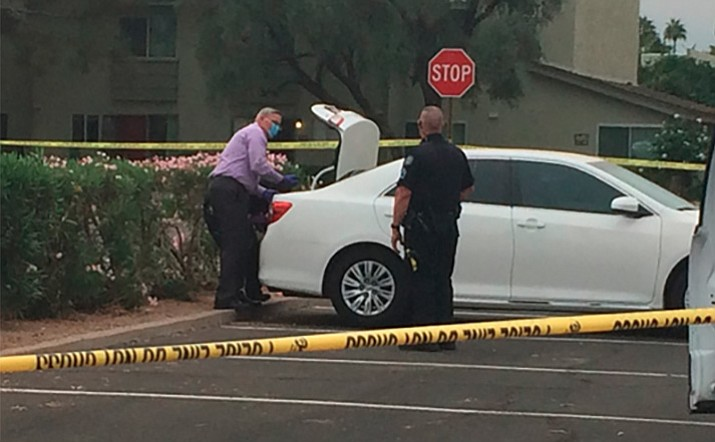 Police say a man in his 30s forced his way into a woman's home in Scottsdale early Tuesday morning, bound her, put her in the trunk of her car and drove away. The woman spent about seven hours in her trunk before escaping. (Scottsdale Police Department)