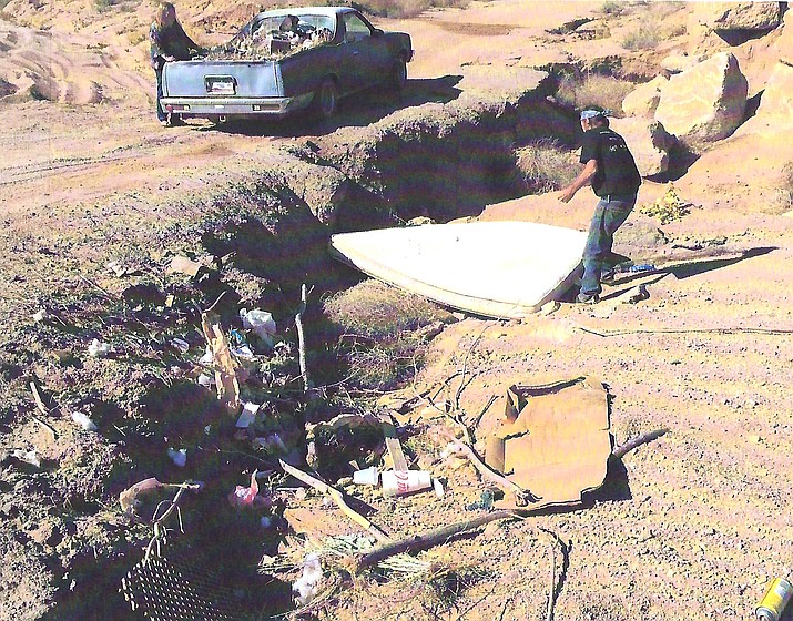 William Griffin and Pamela Blair were charged with criminal littering, according to Mohave County E.R.A.C.E.