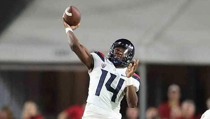 Arizona quarterback Khalil Tate leads the Wildcats into their final home game Saturday night against Oregon State.