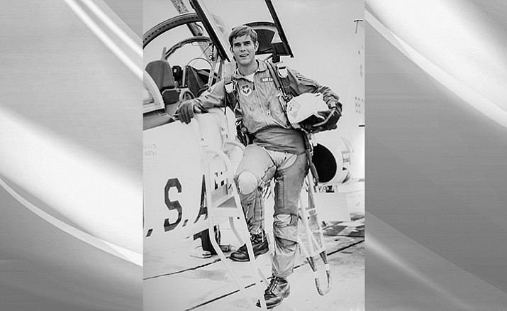 "Doug Von Gausig poses for a ""tiger shot"" around the time he graduated from pilot training at Laredo AFB, Texas. Courtesy photo, Doug Von Gausig"