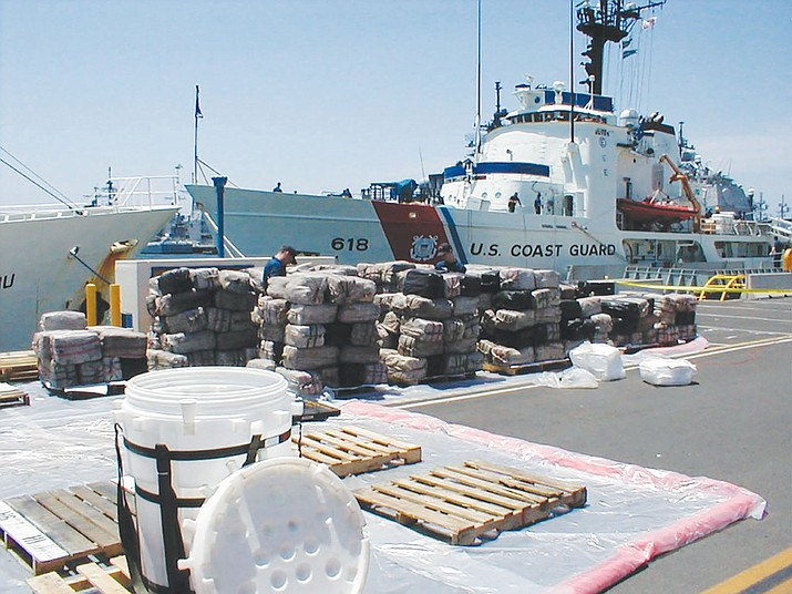It took pallets to stack the 13 tons of cocaine Richard Hutchison played a role in confiscating while serving in the Coast Guard.