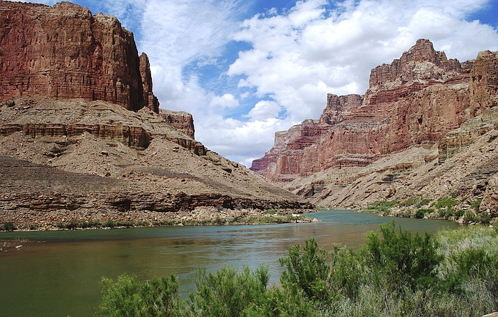 Pictured is a view upstream on the Colorado River in the Grand Canyon at the site for a proposed aerial tram. Lawmakers on the country's largest American Indian reservation have shot down the measure to build the tram that would have taken visitors to a riverside boardwalk with stores, hotels and restaurants above on the East Rim of the canyon. (Confluence Partners, LLC via AP)