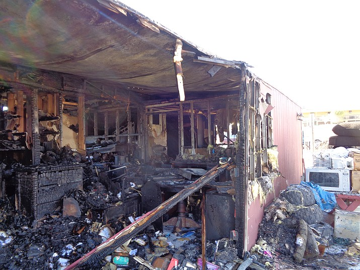 The aftermath of a mobile home fire Saturday, Nov. 11, in Chino Valley. (CAFMA/Courtesy)