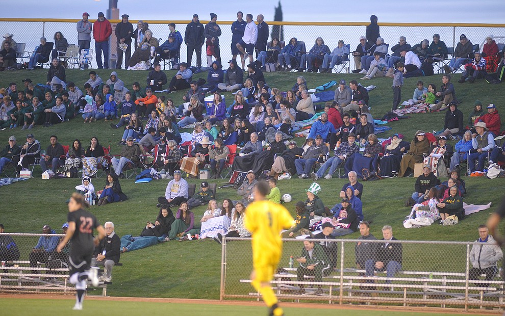 A large crowd was onhand as the Yavapai Roughriders take on Waubonsee Community College in the opening round of the NJCAA Division 1 National Championship Tuesday night in Prescott Valley. (Les Stukenberg/Courier)