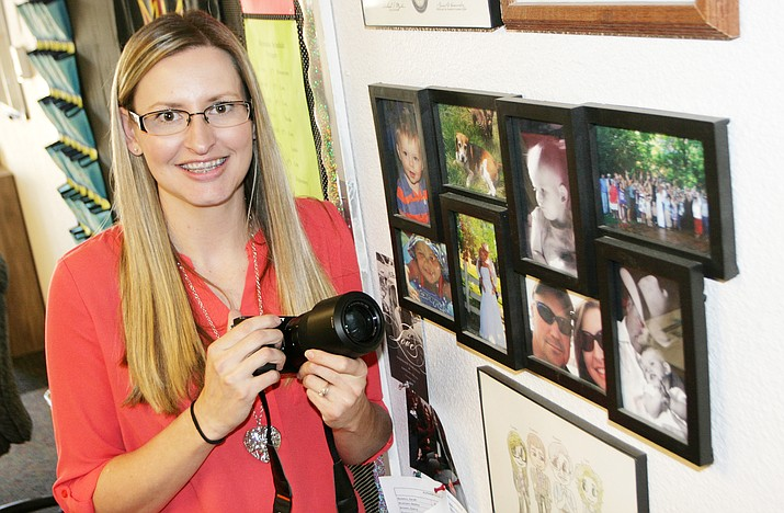Cristin Combs teaches both mathematics and photography at Cottonwood Middle School. (Photo by Bill Helm)