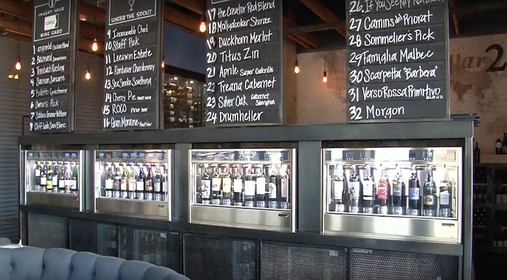 Sorso, in Scottsdale, Arizona features an automated wine dispenser that allows customers to choose from up to 32 wines from around the world. (Photo by Tim Johns/Cronkite News)