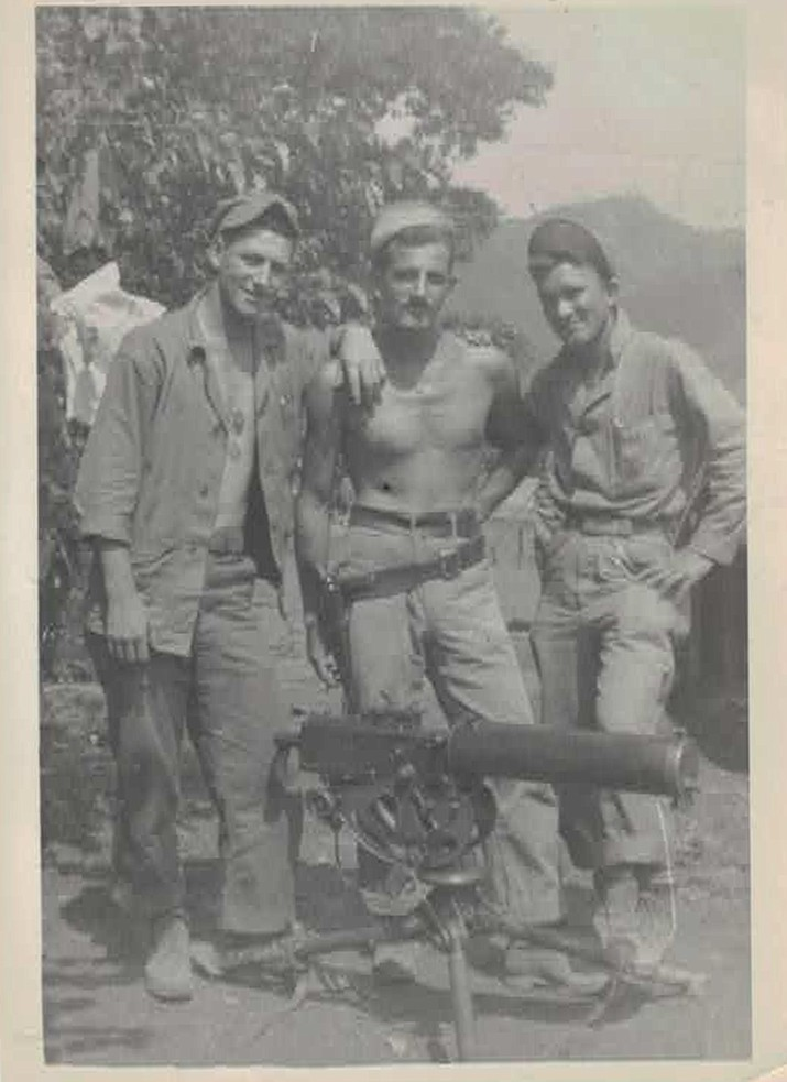 Charles Richard Allen (left), 18, served in Korea from 1950-1952. Allen was part of a six man crew operating a water cooled heavy machine gun during the war.