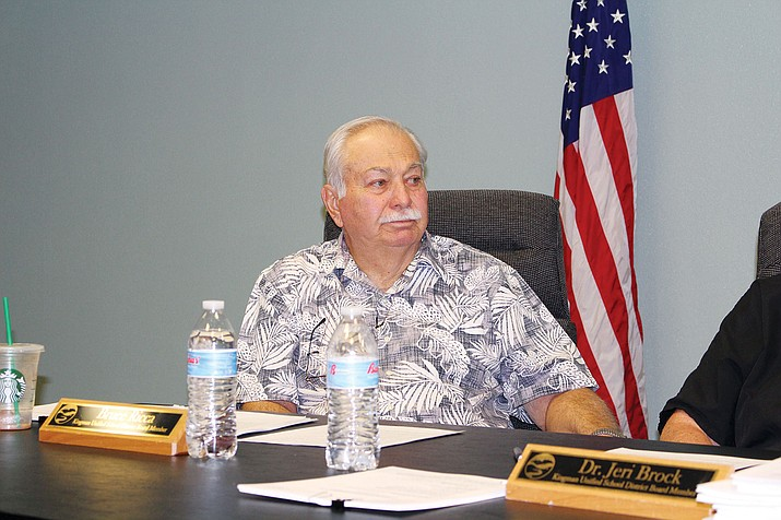 Bruce Ricca, board member for Kingman Unified School District, agreed to head a committee to get an appraisal on Palo Christi School and make a decision on its future use.