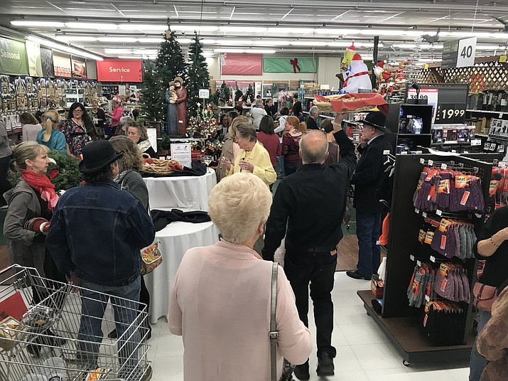 Shoppers fill the Prescott True Value on Miller Valley Road Thursday night, Nov. 16, during the store's True Value Ladies Night.