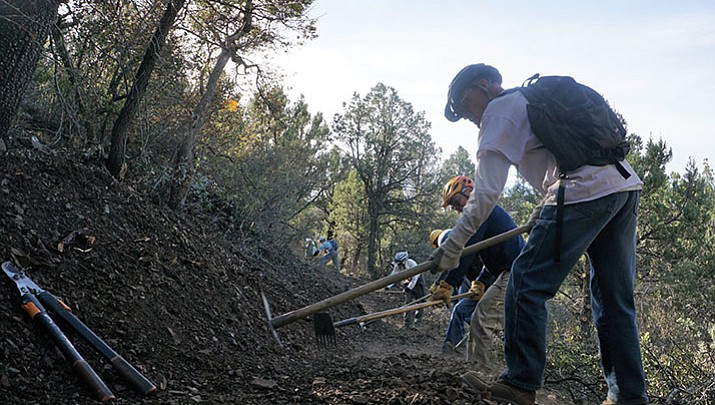 City/Forest Service collaboration completes new stretch of trail along Prescott loop