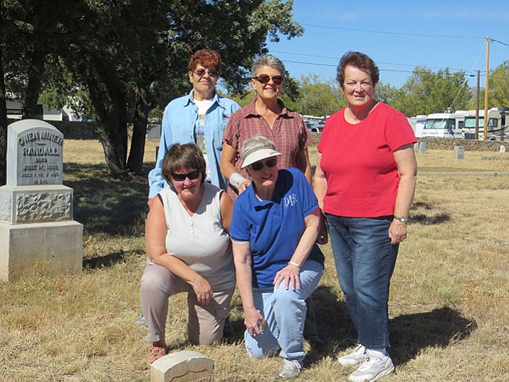From left, standing: Priscilla Davis, Nancy Silacci, Betty Bourgault; from left, kneeling: Judy Davies, Sue Burk. Not pictured: Lee Nelson, Nancy Burgess and Julie Holst, chairperson of the Coordinating Council for the Citizens Cemetery. (Courtesy)