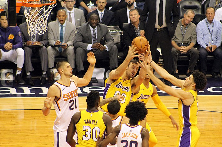 Phoenix Suns center Alex Len (21) has been an anchor, offensively and defensively, for the team.